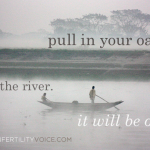 pull in your oars. trust the river. it will be okay.