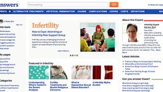 Check out my work at infertility.answers.com!